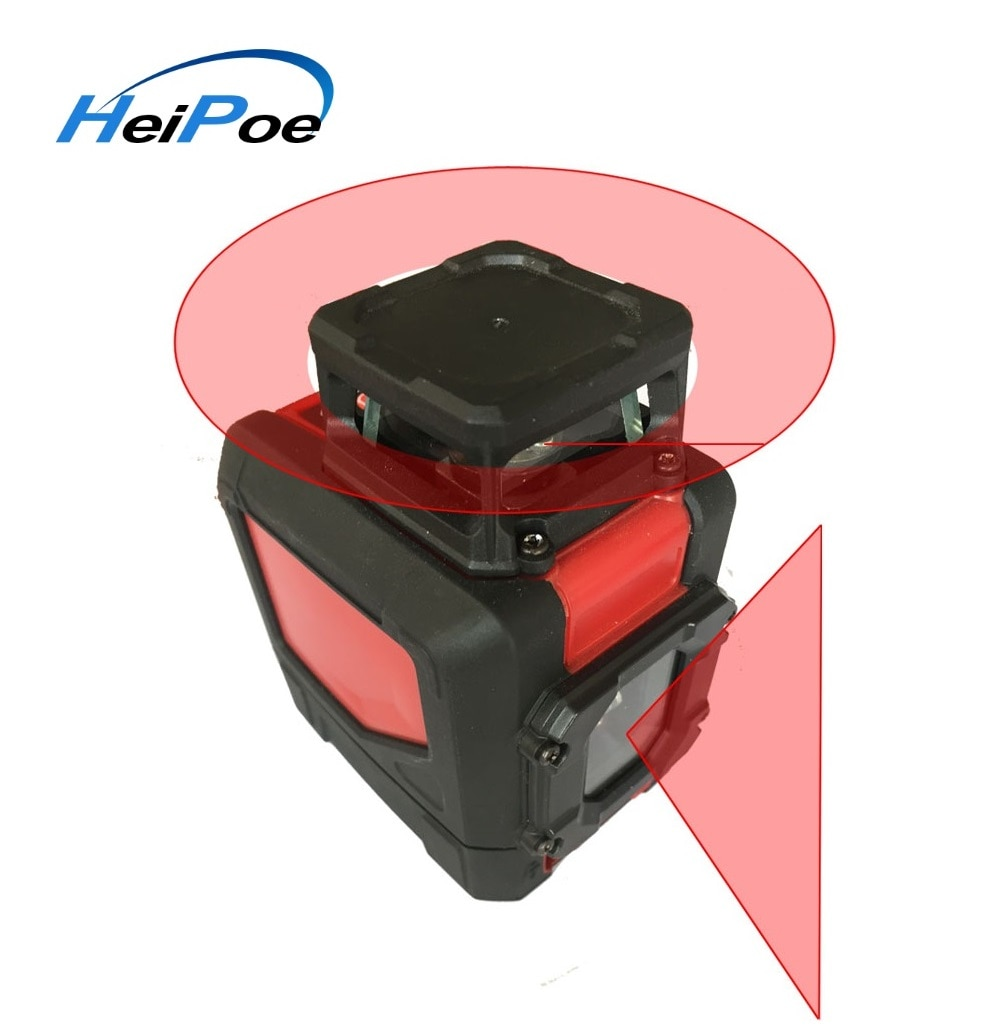 Venda quente mini linhas transversais vermelho nível laser hp901cr, 5 linhas feixe vermelho auto nivelamento laser nível