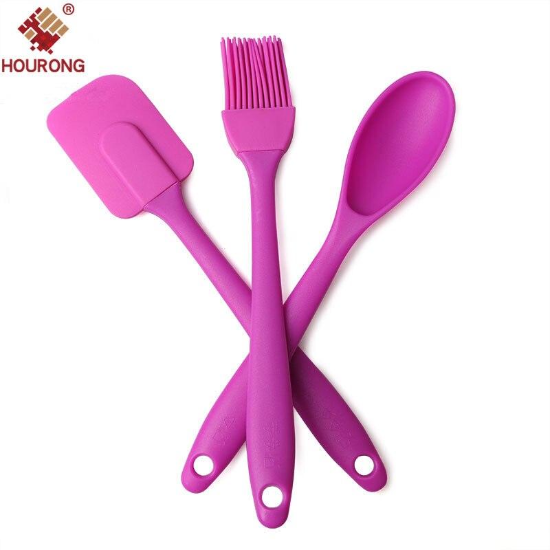 3 шт./компл., силиконовая лопатка, ложка, набор кистей, крем, кухонная утварь, набор инструментов для торта