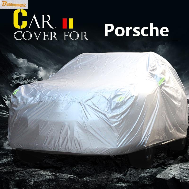 Buildreamen2 Car Cover Outdoor Anti-UV Sun Rain Snow Scratch Dust Resistant Cover Waterproof For Porsche Macan Panamera Cayenne