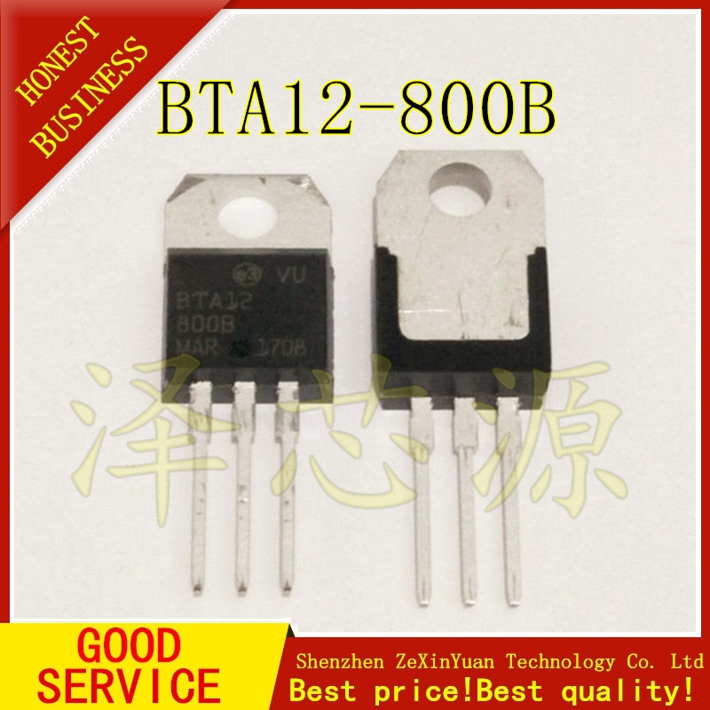 10 unids/lote BTA12-800B BTA12 12A/800V a-220 12A TRIACS el bidireccional tiristor