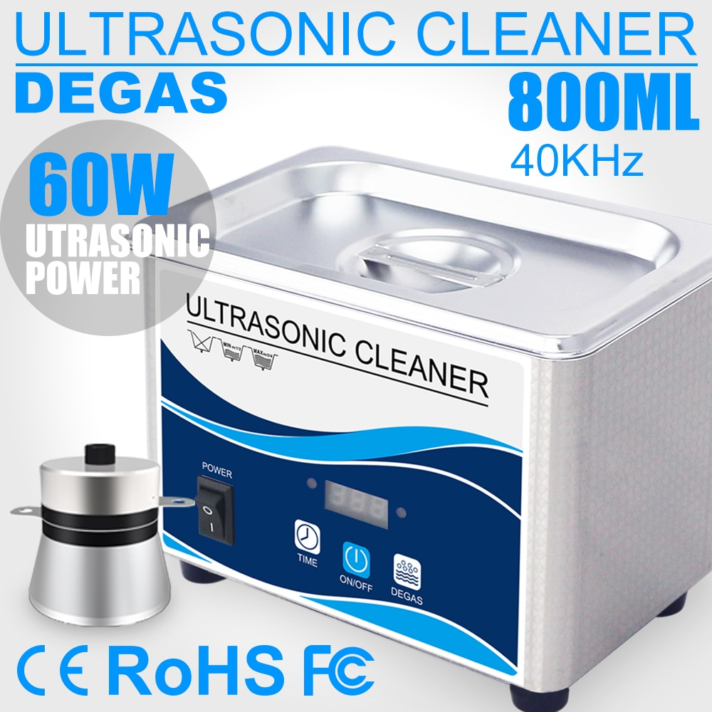 Фото - 800ml Household Digital Ultrasonic Cleaner 60W Stainless Steel Bath 110V 220V Degas Ultrasound Washing for Watches Jewelry degas a passion for perfection