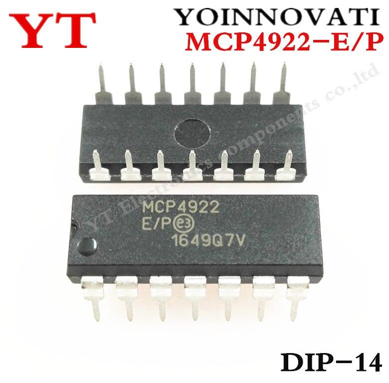 Envío Gratis 5 uds MCP4922-E/P MCP4922 4922-E/P DAC 12BIT DUAL W/SPI 14DIP mejor calidad