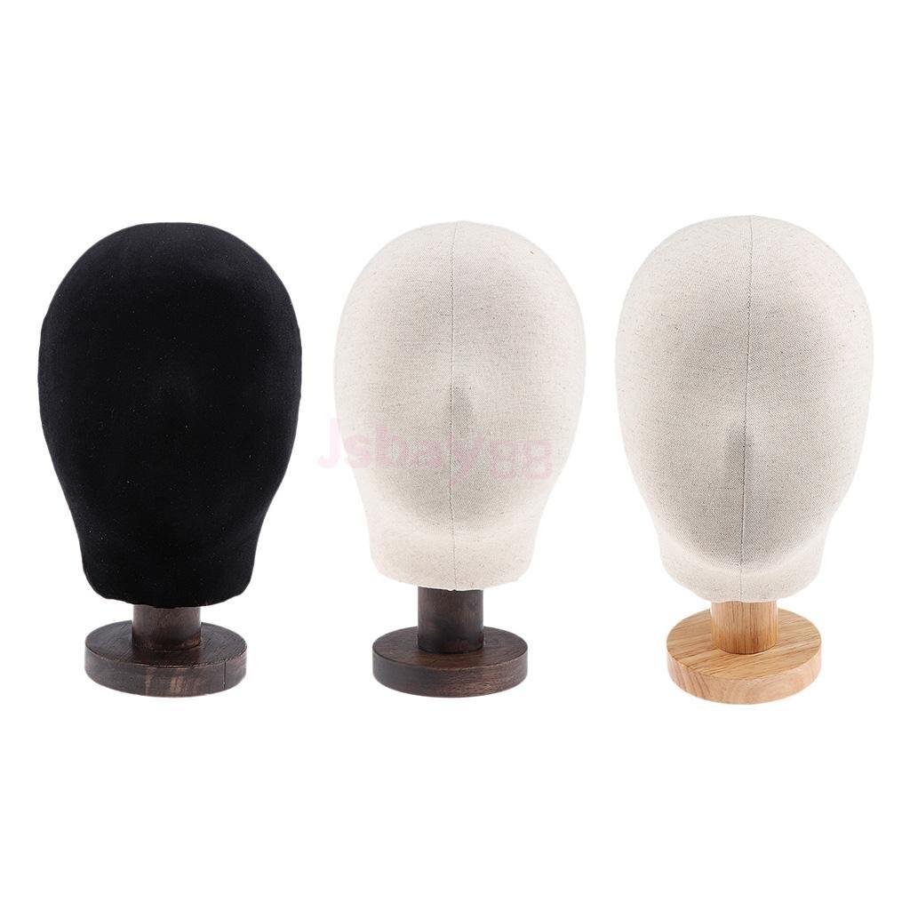 20'' Training Mannequin Head Canvas Block Head Display Styling Mannequin Manikin Head Wig Stand Holder Hat Cap Display