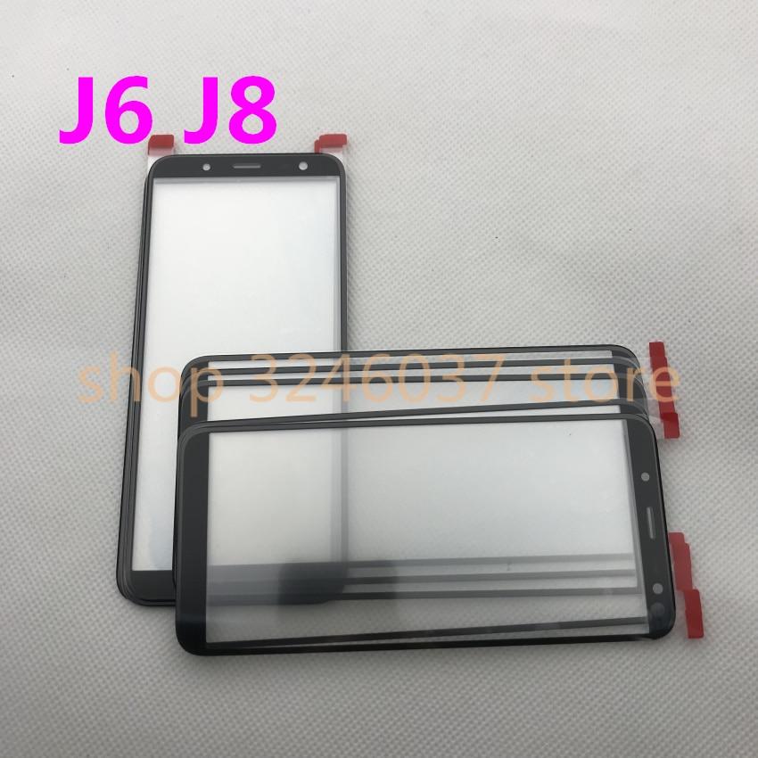 استبدال لوحة اللمس لسامسونج غالاكسي J6 J8 100 J600 J600F J810 J810F ، زجاج أمامي خارجي ، 2018 قطعة