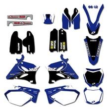 Kit dautocollants darrière-plan pour Yamaha   YZ125 YZ250 YZ 125 250 2002-2012 2011 2010 2009 2008 2007 2006 2005 2004 2003