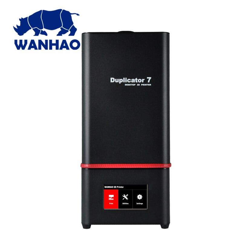 Novedad 2018 WANHAO D7 PLUS joyería de resina Dental Actualización de impresora 3D por modelo D7 con nano caja táctil conectada, impresora 3D DLP
