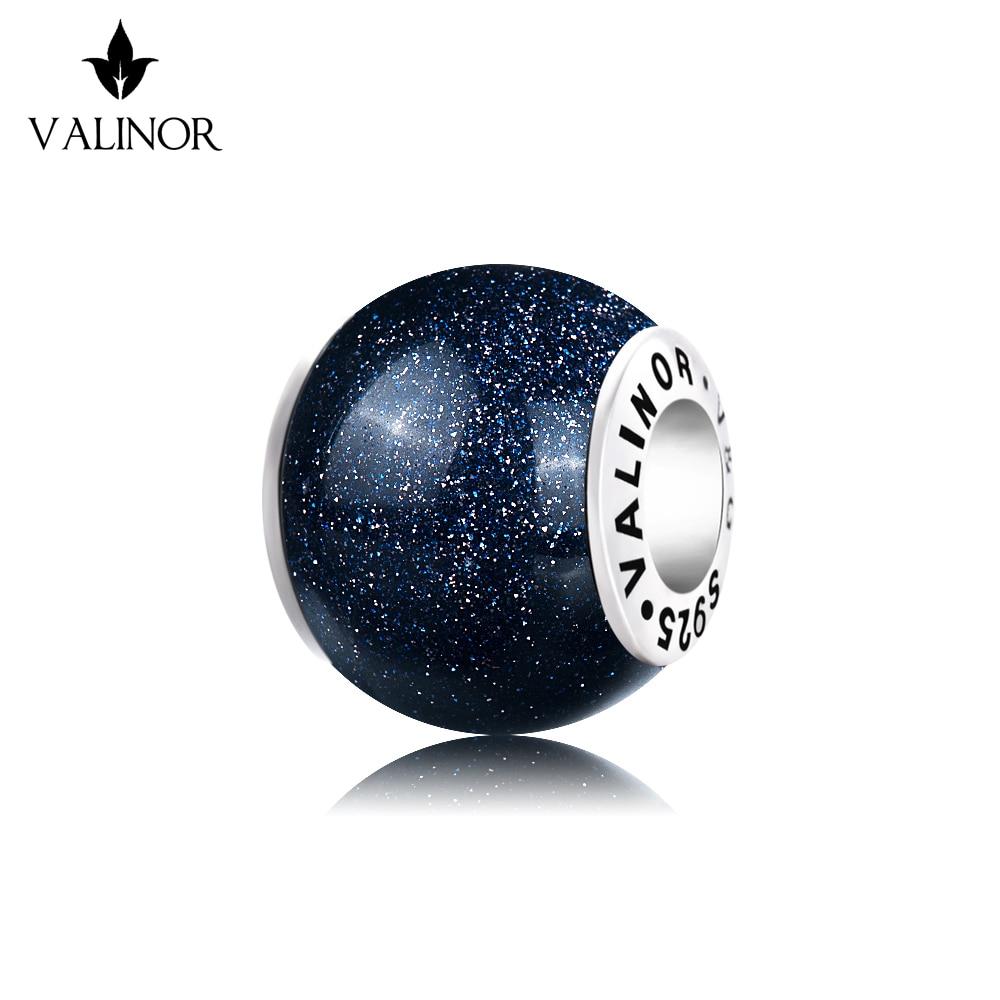Azul venus pedra 925 prata esterlina contas encantos ajuste pulseiras & pulseiras trbs016