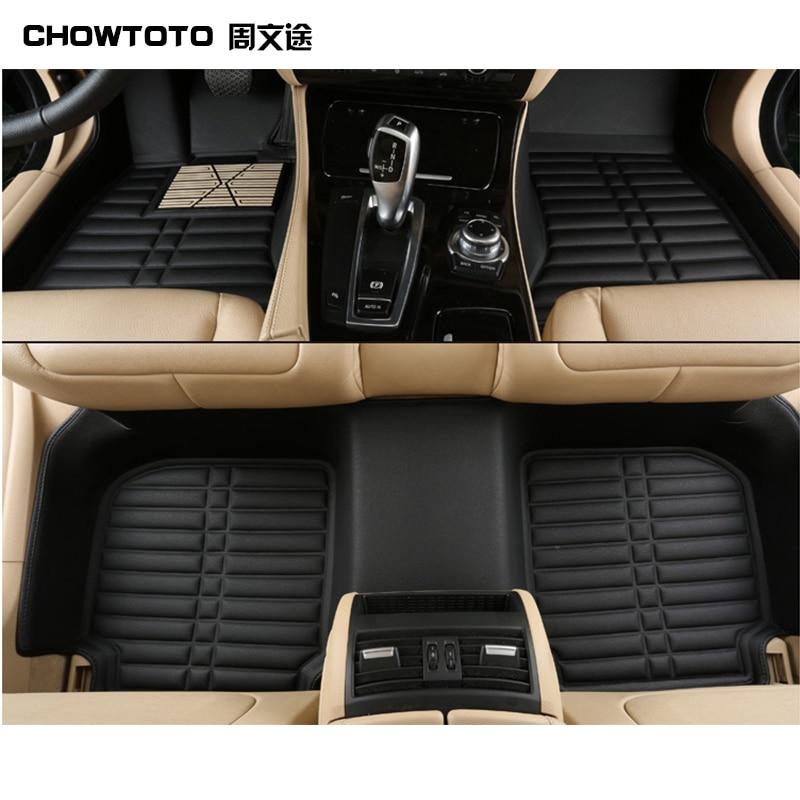 CHOWTOTOAA coche tapetes para VW Tiguan/Touareg/Sagitar/Lavida/Magotan/golf/Jetta/Passat/CC/Touran/Bora/Scirocco duraderas alfombras