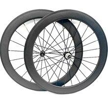 700c 카본 휠로드 카본 자전거 휠셋 45x25mm 클린 처 관형 스트레이트 풀 파워 웨이 r51 20/24 g3 자전거로드 휠