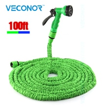 100ft 30m expandable flexible magic water hose pipe with spray nozzle gun garden hose retractable water pipe