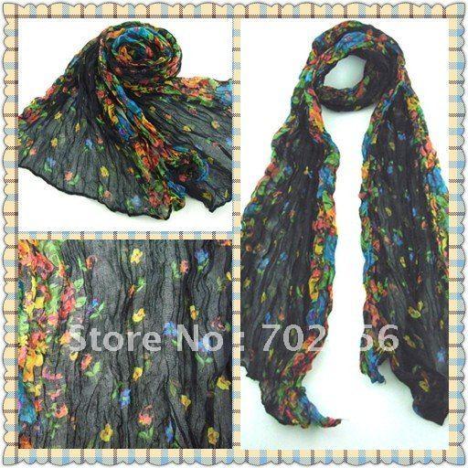 HOT ALE Flower design Scarf Neckscarf  20pc/lot 160*50cm #2124