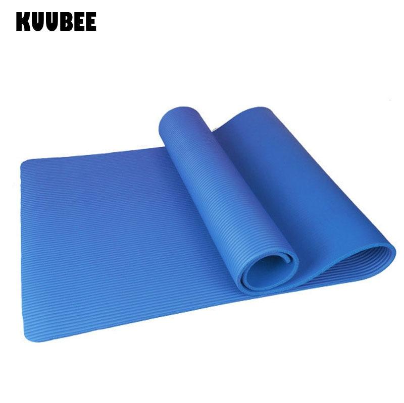 KUUBEE10MM NBR tapis de Yoga tapis dexercice épais anti-dérapant pliant tapis de Fitness Pilates fournitures tapis de jeu de sol antidérapant