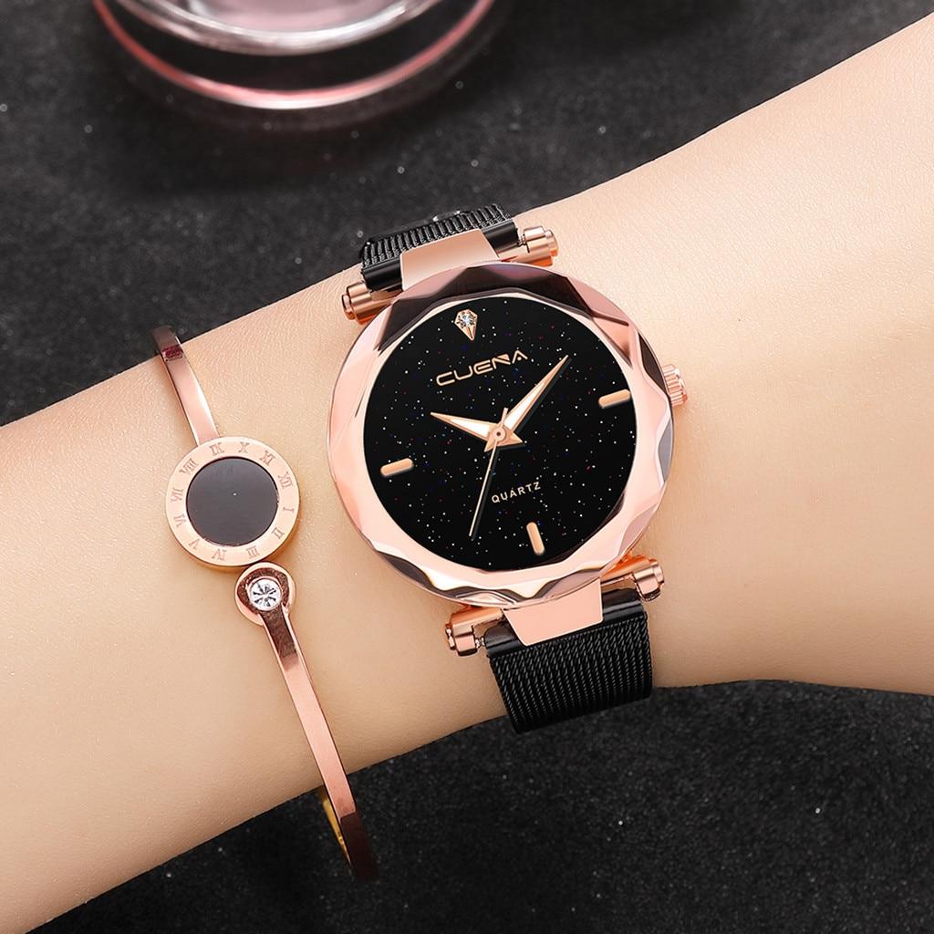 Reloj de lujo de acero inoxidable para mujer, pulsera Casual, relojes de cuarzo, reloj femenino, moda mujer, 2019 bayan kol saati