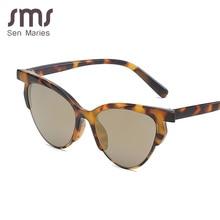 Sen Maries Trendy cat eye women sunglasses 2019 new Butterfly Sunglass hot sale Luxury Sunglasses UV400 Vintage Glasses Oculos