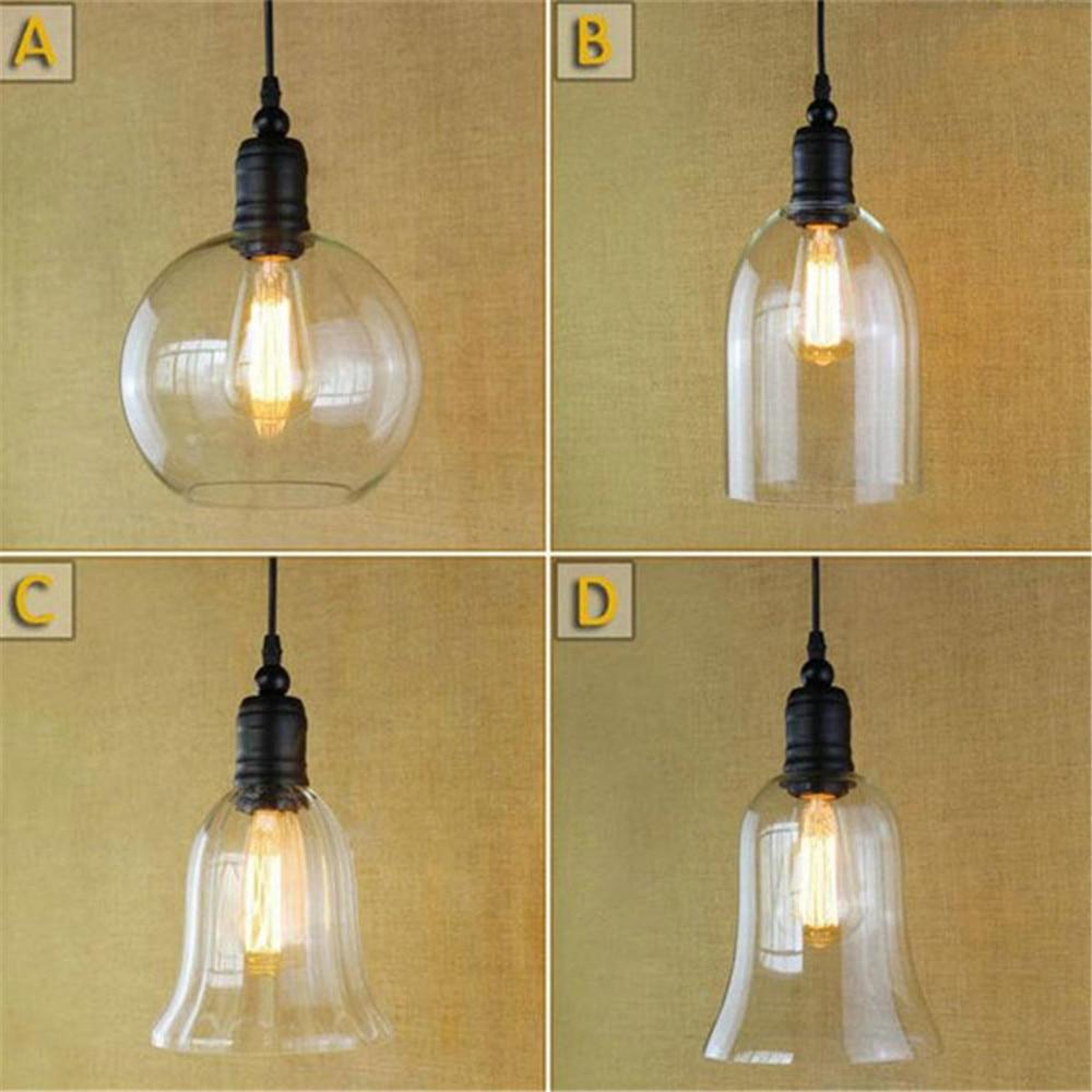 Lámpara colgante de techo de vidrio, lámpara Vintage Industrial de Metal, Edison,...
