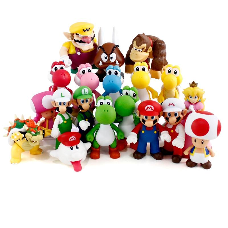 "Фигурки ""Супер Марио"", 13 см, игрушки ""Супер Братья Марио"", боусер, Луиджи, коопа, Йоши, Марио, Одиссея, ПВХ, экшн-фигурки, модель кукол, игрушка"