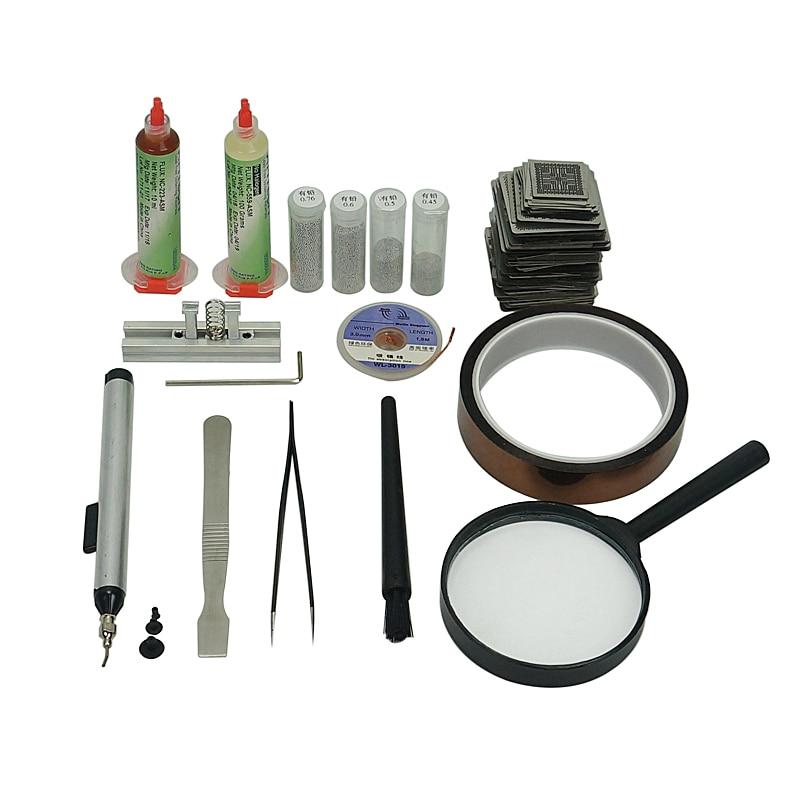 219pcs Directly Heated BGA Stencil BGA reballing kit  BGA Stencil Universal BGA Reballing Station enlarge