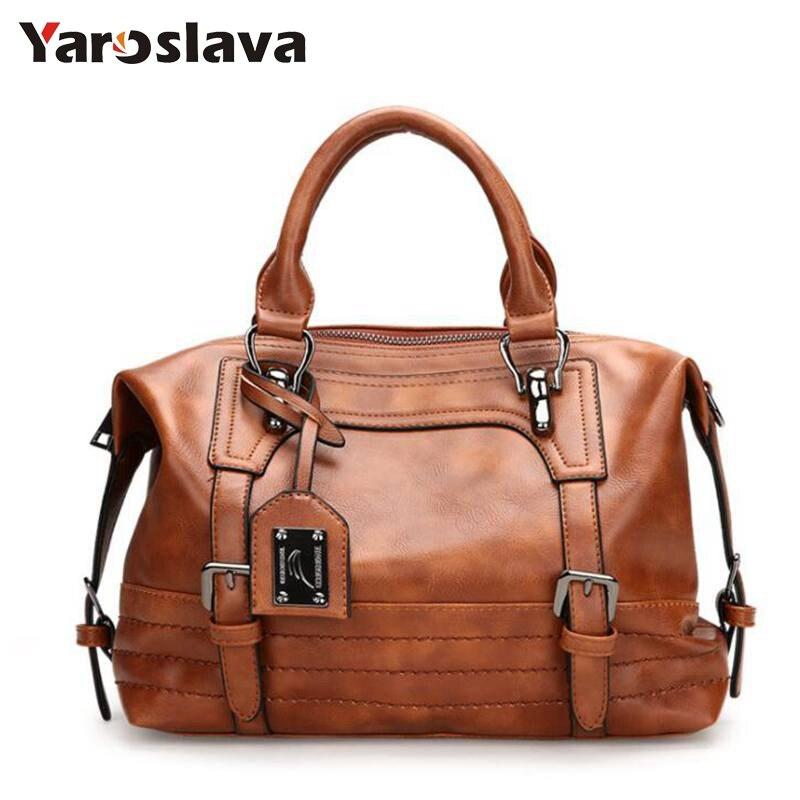 2020 Brand Handbag Women PU Leather Shoulder Bag Casual Large Capacity Top-Handle Bucket Bag Simple