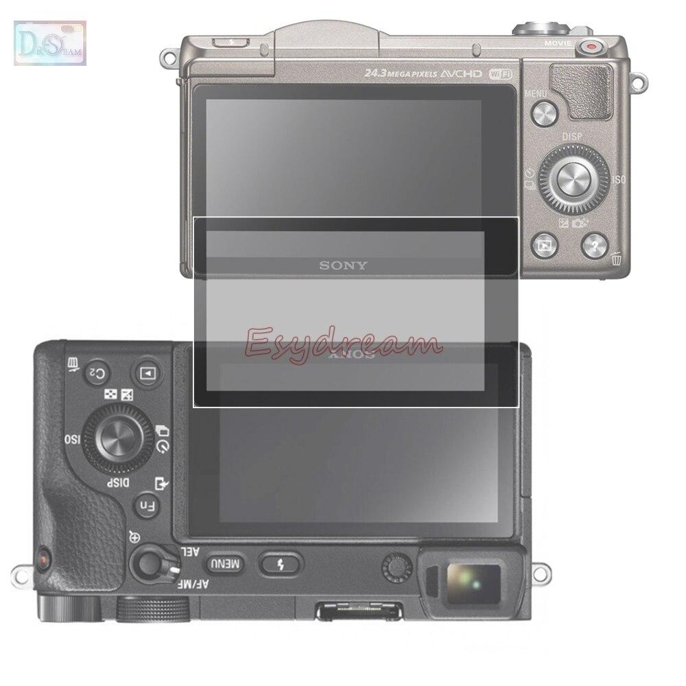 Borde negro 3M cristal LCD Protector de pantalla cubierta de protección para Sony A6500 A5100 NEX 3N 5N ILCE-6500 NEX-3N pantalla cóncava
