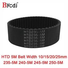 Arc HTD-ceinture de synchronisation 5M C   235/240/245/250 largage 10/15/20/25mm dents 47 48 49 50 HTD5M, courroie synchrone 235-5M 240-5M M 250-5