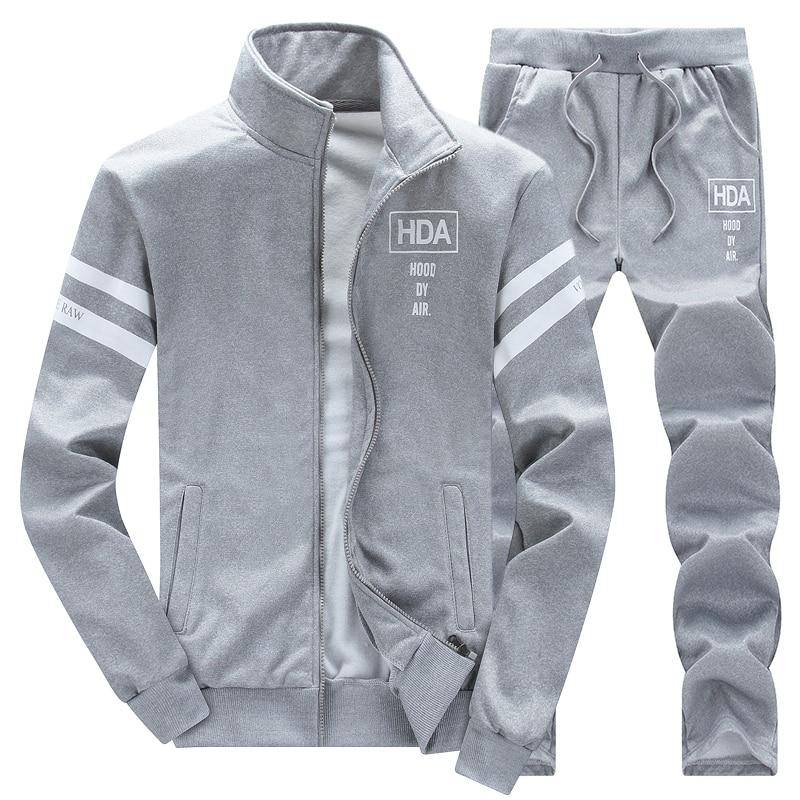 2021 Spring Autumn Mens Clothing Suits Male Set Casual Sweatshirts Pant Men Brand Sportswear Plus Size  4XL