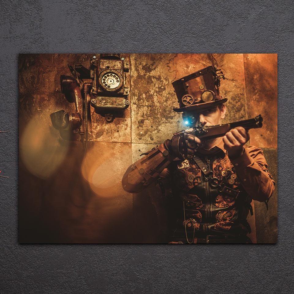 1 шт. стимпанк винтажный плакат на стену искусство холст картины для гостиной спальни домашний декор напечатанные на холсте картины