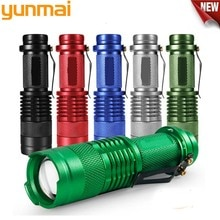 Lampe torche torche à Zoom, 3 Modes, Mini-lampe réglable 6 couleurs, 2000lm, lampe à la mise au point à Zoom à la lumière du stylo, étanche, utilisation de batterie AA/14500