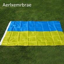 Free shipping 3ft x 5ft Hot Sale NEW Ukraine Flag 90x150cm 3x5ft Polyester Ukrainian Banner National Country Flag