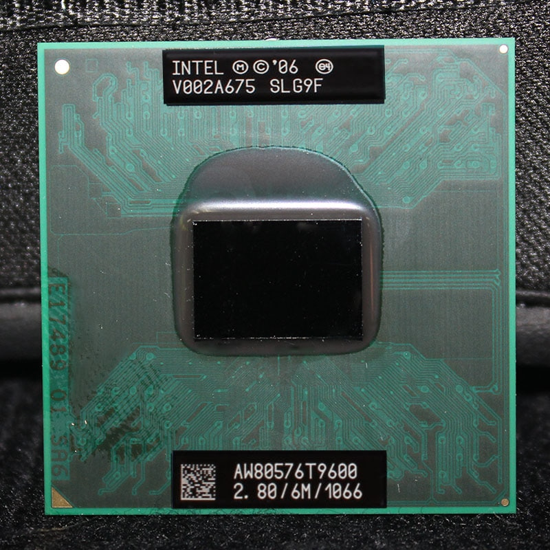 Intel Core 2 Duo נייד T9600 2.8GHz 1066 MHz 6 M מחשב נייד מעבד מעבד