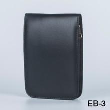 12 pièces stylo sac de luxe nouveau noir peut être installé sac en cuir/porte-crayon