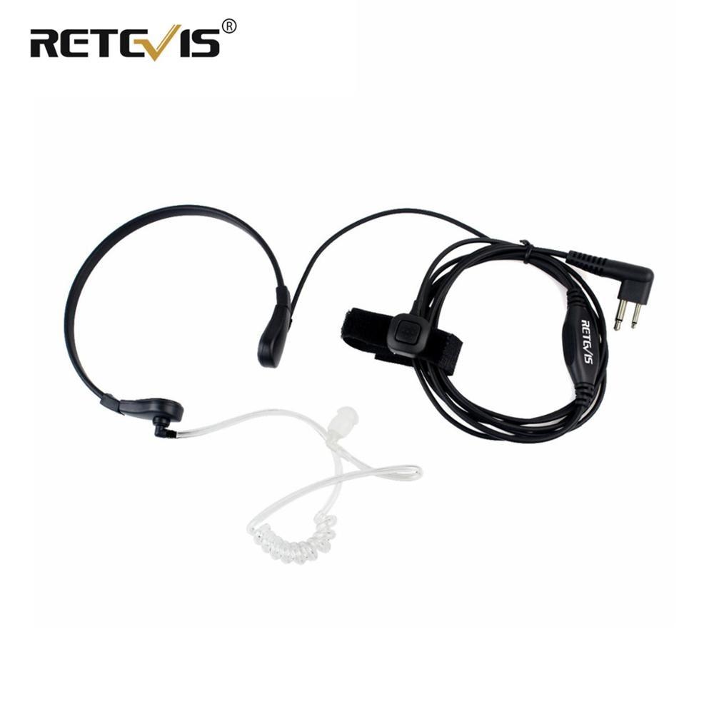 garganta microfone fone de ouvido 2pin ptt para motorola walkie talkie gp300 gp308