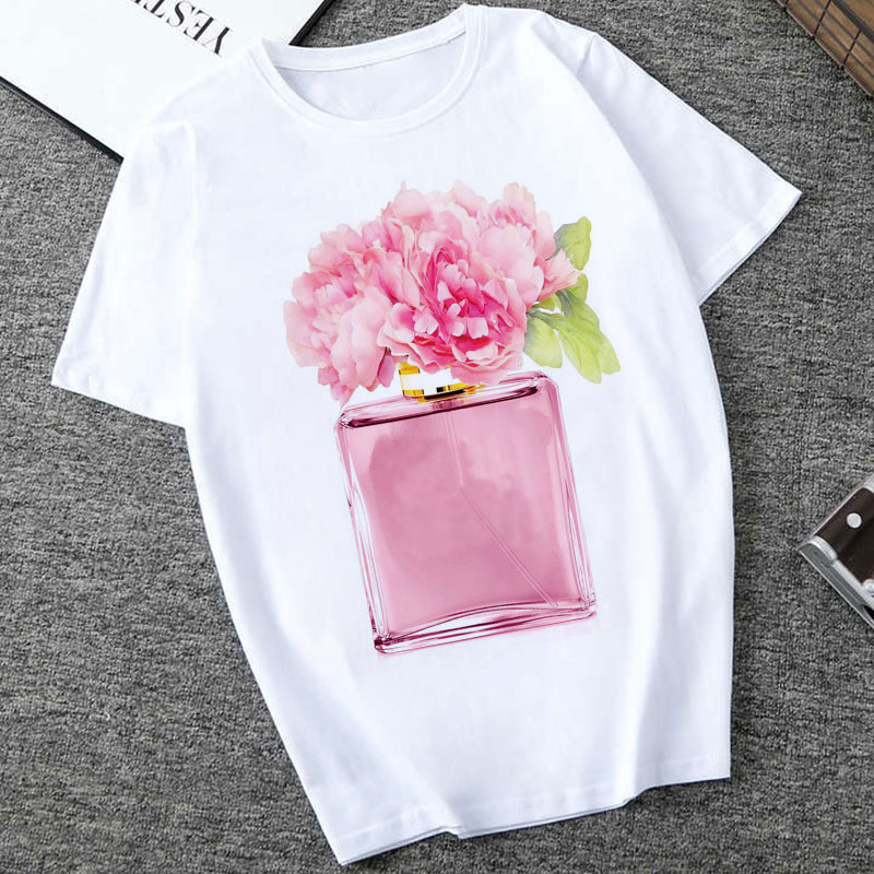 CZCCWD Women Clothes 2019 Harajuku Thin Section Summer Top Perfume Flower Woman Trend T Shirt Leisure Short Sleeve O-neck Tshirt