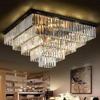 jmmxiuz led living room lamp square crystal lamp ceiling lamp modern minimalist bedroom restaurant atmospheric chandelier