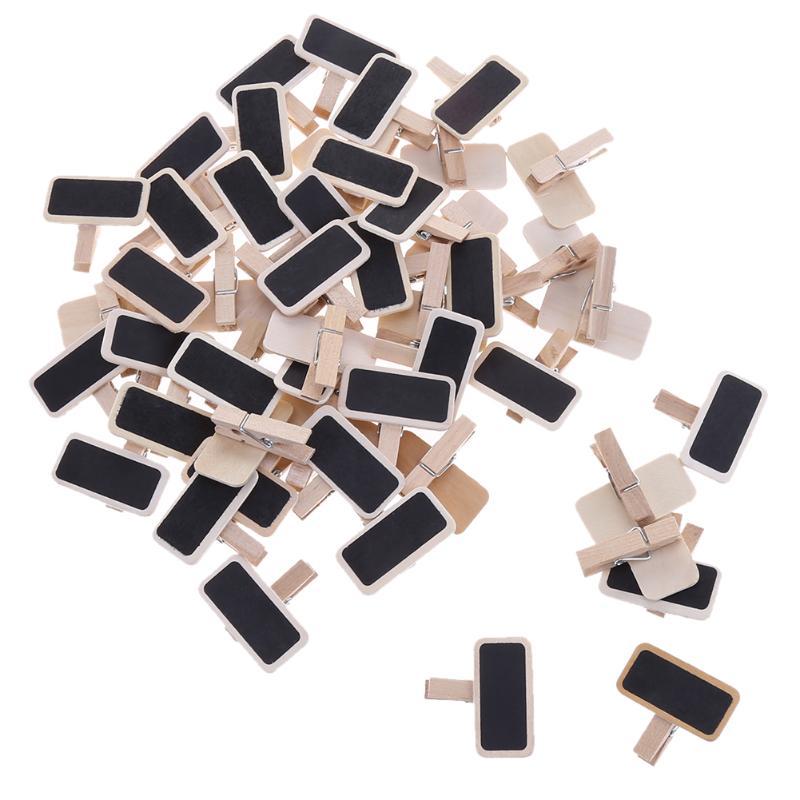 50 шт., мини деревянные зажимы для доски, папка для заметок, зажим для фото, Mark, деревянные зажимы для связывания, Para Papel, канцелярские принадле...