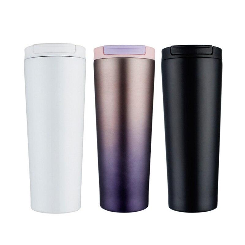 Taza Termo al vacío ASFULL, taza de café de 500ML, Taza Termo de acero inoxidable, tazón taza con tapa, termo de viaje, tazas para café