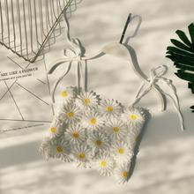 MUMUZI lace crochet tops white sleeveless summer blouses high waist short design navel holiday bottoming wearing shirts