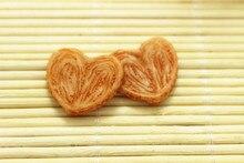50pcs/lot 21*19MM light brown heart shaped cookies Kawaii Biscuit resin Food  Resin Flatback cabochon