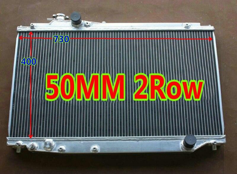 Radiador de aluminio para TOYOTA SUPRA MK4 JZA80 2JZ-GTE doble Turbo MT