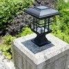 Solar spalte kopf licht LED spalte cap licht im freien wasserdichte dekorative wand lampe hof energie ohne verdrahtung WWO66