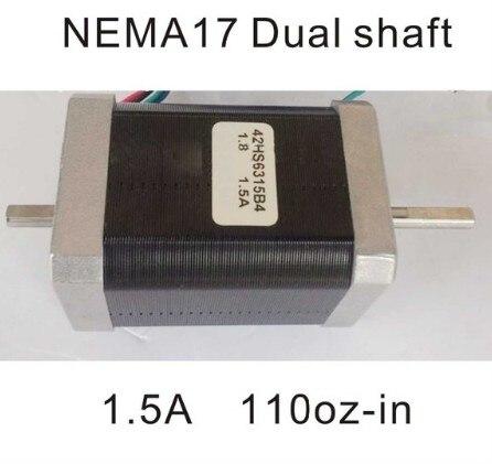 Nema 17 duplo eixo stepper 110 oz-no comprimento do corpo 63mm ce rohs nema17 motor cnc impressora 3d