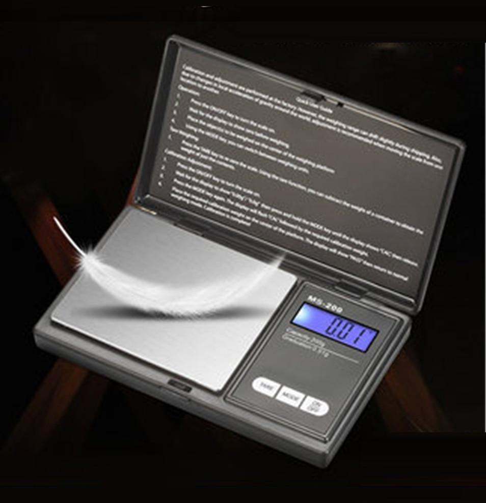 200g 500g x 0.01g high precision Digital kitchen Scale Jewelry Gold Balance Weight Gram LCD Pocket w