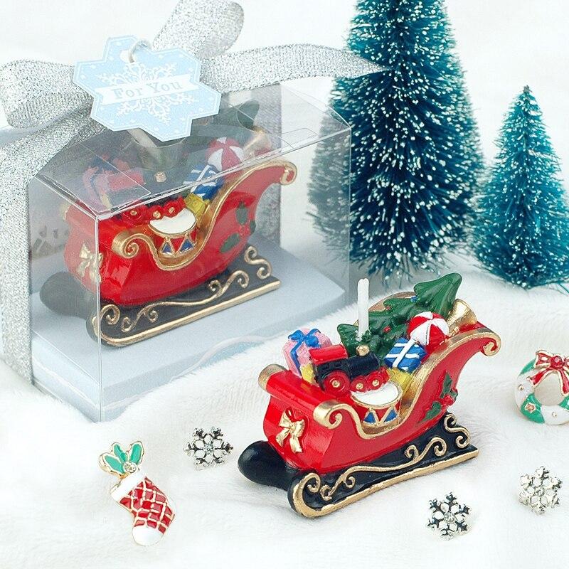 (Упаковка из 10 свечей) Рождественская Бездымная свеча Санта Клауса для крещения