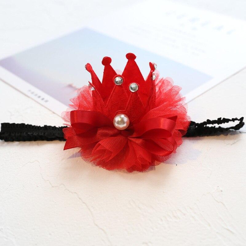 Boutique 12pcs Fashion Glitter Gemstone Pearl Crown Headbands Solid Floral Lace 3D Tiaras Soft Hairbands Princess Headwear