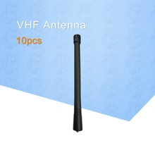 10 x antenne VHF pour Motorola Radios talkies-walkie GP88 GP88S GP328 GP338 GP338 PLUS 6 pouces (15 CM) 136-174 MHz