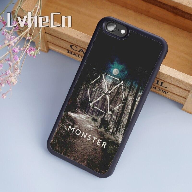 LvheCn Exo Kpop banda de Exo planeta negro cubierta de la caja del teléfono para iPhone 5 5 s 6s 7 8 plus 11 pro X XR XS max Samsung S7edge S9 S10