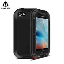 Love Mei étui pour iPhone 5 5 S SE housse de téléphone antichoc pour iPhone5 5 s SE robuste armure corps complet étui Anti-chute iPhone SE