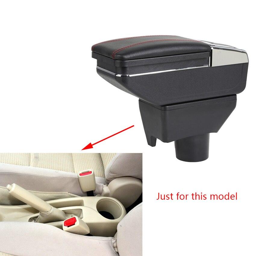 Caja de reposabrazos para Toyota Yaris L Vios FS 2014 -2018, caja de almacenamiento central con soporte para Copa, Cenicero, reposabrazos giratorio