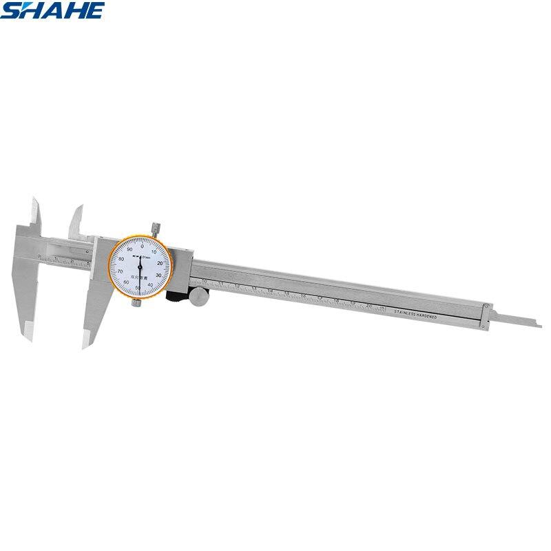 Штангенциркуль с метрическим манометром shahe 0-200 мм 0,01 мм из нержавеющей стали с двойным ударопрочным циферблатом штангенциркуль измеритель...