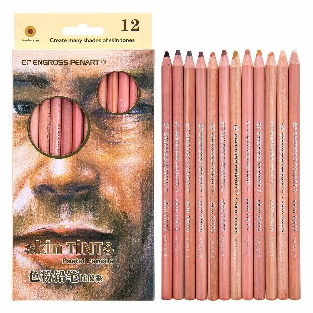 AliExpress - 12 Color Soft Pastel Pencils Professional Skin Tint Pastel Colored Pencils For Drawing School Lapice De Colore Pencil Stationery