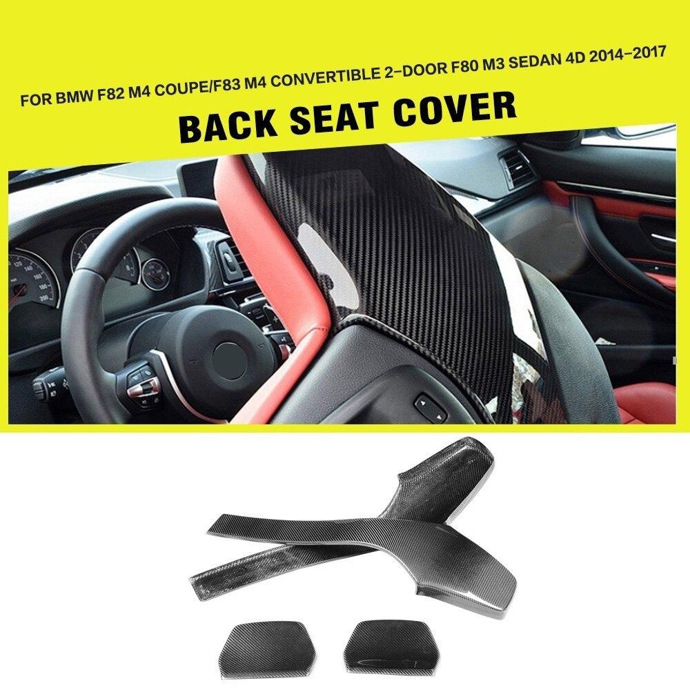 Wewnętrzne oparcie siedzenia samochodu z włókna węglowego obejmuje wykończenia dla BMW F80 M3 F82 F83 M4 Sedan Coupe cabrio 2014 - 2018